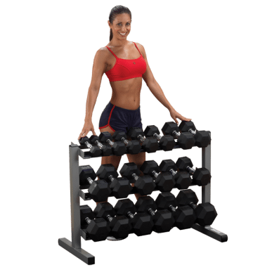 Body Solid 40 Inch 3 Tier Dumbbell Rack